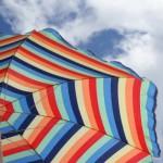 bunter Sonnenschirm