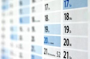Kalender für die Adventszeit