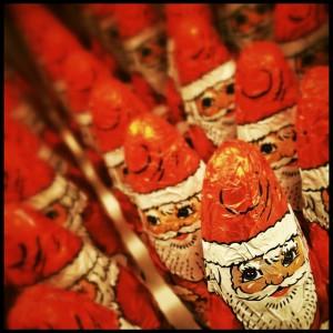 Schokoladen Weihnachtsmänner