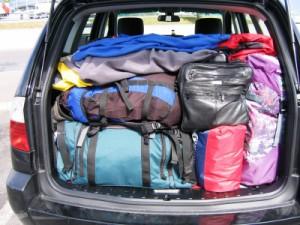 Checkliste Autoreise Kofferraum